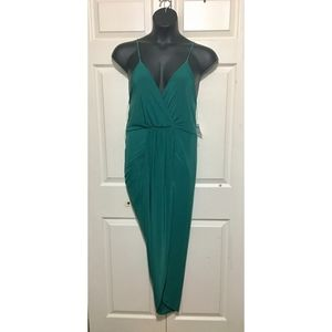 Charlotte Russe Wrap Slip Dress Size XL Green